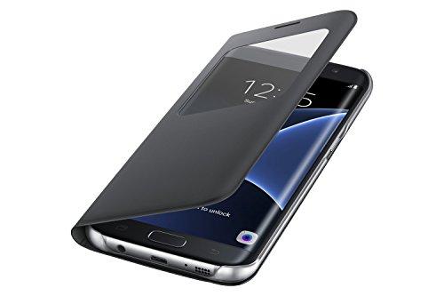 Samsung S View Cover - Funda para Samsung Galaxy S7 Edge, color Negro