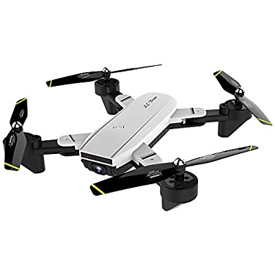 JIANGfu Foldable RC Drone with Dual Camera, SG700-S 2.4Ghz 4CH Wide-angle Remote Control Quadcopter Drone,WiFi 1080P Optical Flow Dual Camera