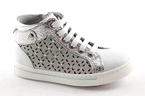 Nero Giardini Black Jardins 28370 Junior Trous 25/34 Sneaker Blanc Mi Zip Chaussures Fille