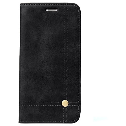 Deer Magnetic Auto Lock Flip Cover For Motorola Moto G5 Plus - Black