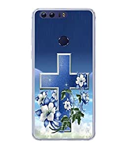 PrintVisa Floral True Cross High Gloss Designer Back Case Cover for Huawei Honor 8
