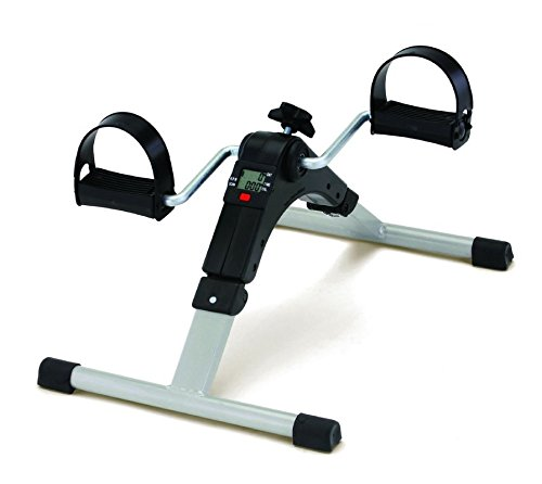 IBS Digital Pedal Exercise Mini Bike / Cycle Aid With Adjustable Resistance Ab Care King Toner (White)