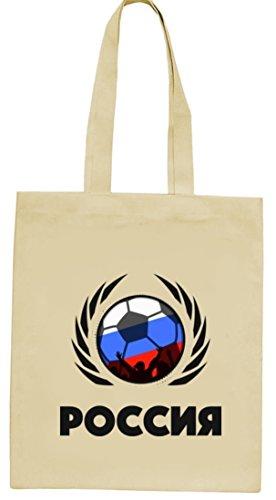 Russia Poccnr Fussball WM Fanfest Gruppen natur Jutebeutel Stoffbeutel Tote Bag Fußball Russland Natur