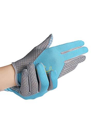 WYSTAO Schnelltrocknende Handschuhe aus Mesh, Abriebfest, rutschfest, sonnenbeständig, Touchscreen, Fitness-Reiten, Abenteuer-Kletterhandschuhe (Farbe : Blau)