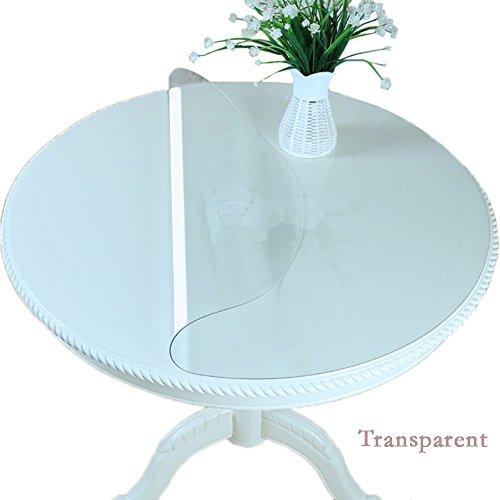 Nappe Tapis De Table De Salle À Manger De PVC Tapis De Bureau Résistants À La Chaleur Imperméables Transparents (Couleur : Thickness1.5mm, taille : Diameter 120cm)