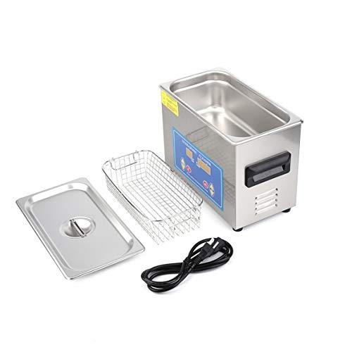 yaoyan Pulitore ad ultrasuoni riscaldato per l'industria dell'Acciaio Inossidabile 4.5L con Timer riscaldatore con trasduttore Incorporato per la Pulizia dei Gioielli in Argento
