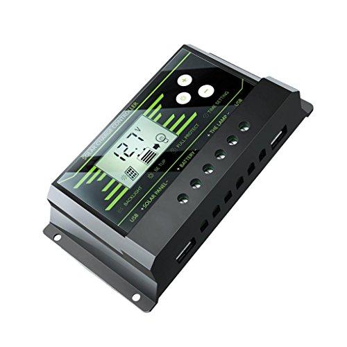 Galleria fotografica Sharplace 1pz 10-30A 12v 24v LCD Regolatore Solare PWM Di Visualizzazione Dell'affissione con Doppio USB - 20A