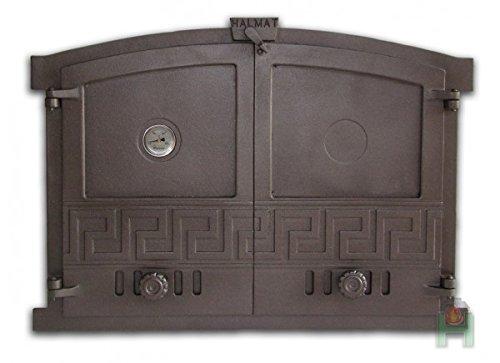 Horno para puerta de hierro fundido (600x 430del Horno para puerta, piedra...
