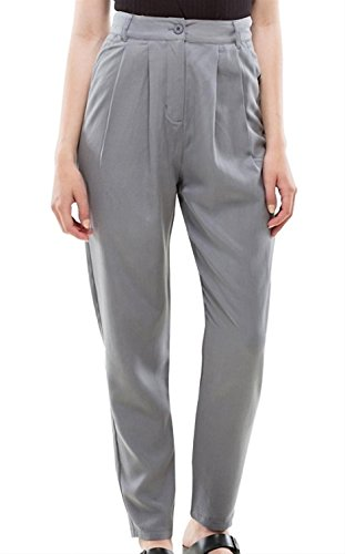 dr-denim-jeansmakers-womens-hayworth-trousers-grey-pants-in-size-m-grey