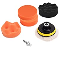 Car Polisher Pad Buffer Gross Polish Polishing Kit Set Drill Adapter