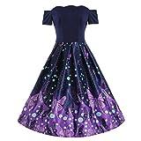 Soupliebe Mode Frauen Schmetterling Drucken Farbe Blockieren Schulter Patchwork Drapiert Dress Abendkleider Cocktailkleid Partykleider Blusenkleid