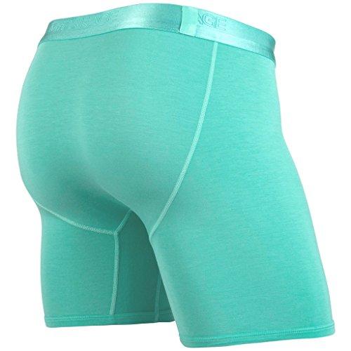 MyPakage Men's Weekend Boxer Brief Underwear Mint Mono Green