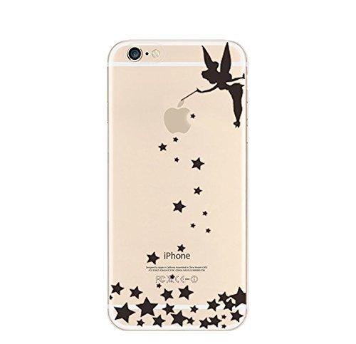 "licaso® iPhone 6 4,7"" TPU Hülle Disney Case transparent klare Schutzhülle Panda Panda-Bär Disney Hülle iphone6 Tasche Cover (Panda 2) Tinkerbell Stars"