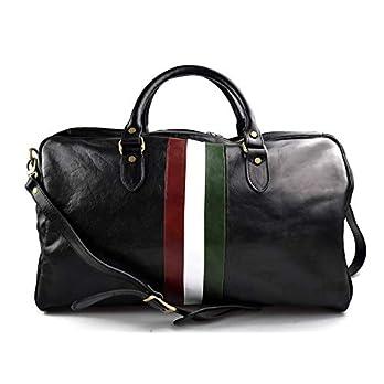 Leder reisetasche Italienische Flagge manner frauen Leder Handgepäck Schulter reisetasche leder schwarz weekend reisetasche sporttasche