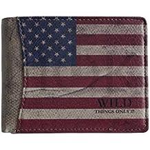 Wild Things Only.–Monedero con bandera de Estados Unidos Unisex Monedero Cartera en varios. tamaños–Presentado por zmoka®