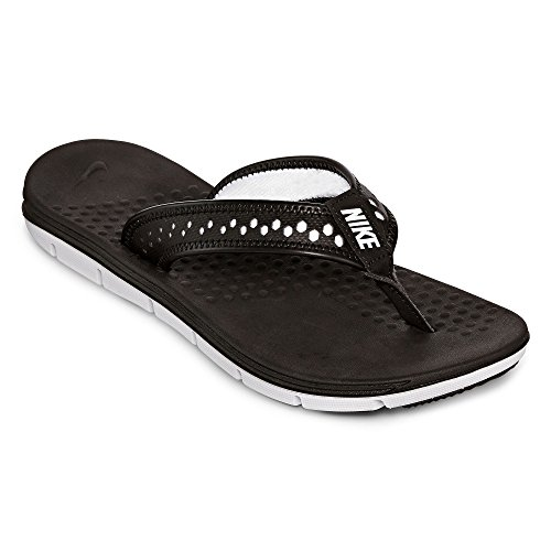 Nike Flex Bewegung Thong Sandale (7, schwarz / weiÃ?)