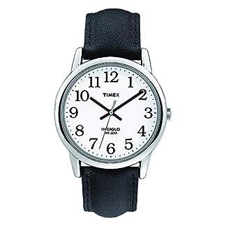Timex T20501PF – Reloj de Cuarzo para Hombres, Correa de Piel, Sumergible a 30 Metros, Color Negro