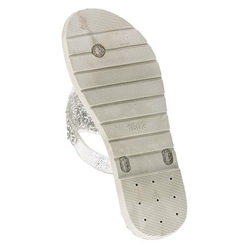 Colori Sandali Scarpe Per Argento Spiaggia 191si Infiniti Perizoma Donna 4 In Con Da Glitter xXqgYnBP