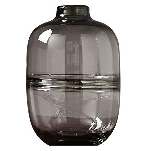 Vaso di cristallo vaso mini per decorare la tua casa vaso di design per desktop center scatola regalo per feste grigia grande media piccola