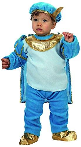Kleiner Baby Kostüm Prinz - ATOSA 10472 - Prinz Kostüm, Größe 6-12 Monate, blau