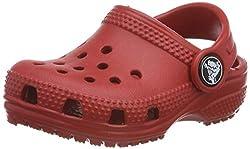 crocs Unisex-Kinder Classic Kids Clogs, Rot (Pepper 6En), 27/28 EU