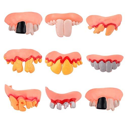 Happy Event Halloween Replikat Ekel Ugly Prothese Falsche Faulen Zähne Modell Zahn | Perfekter Halt durch Individuelle Anpassung