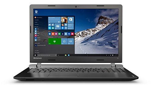 Lenovo Einsteiger Laptop mit 15,6 Zoll HD Display mit 500GB Festplatte (HDD), 4GB Arbeitsspeicher und Windows 10 (Ideapad)