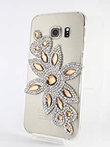 Kiintymys Handcrafted Designer Bling 3D Golden Flower Acrylic Case for Samsung Galaxy J5 Prime