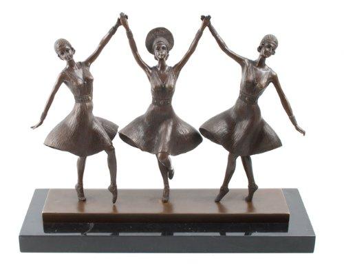 Scultura in bronzo fuso a caldo da Dancing Base in marmo Ballet Russes D.H Chiparus