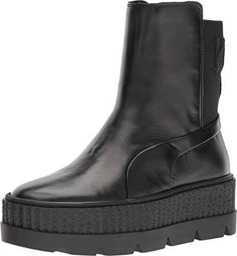online retailer 3b804 043d2 PUMA Unisex x Fenty Rihanna Chelsea Sneaker Boot Black 5.5 Women / 4 Men M  US