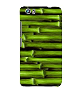Fiobs Designer Phone Back Case Cover Micromax Canvas Fire 4 A107 ( Bamboo Stick Oil Paint Look )