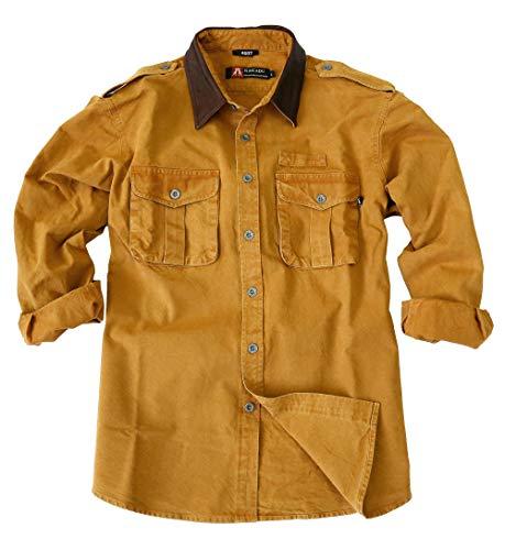 Kakadu Traders Herren Outdoor Hemd Southern Cross Mustard X-Large