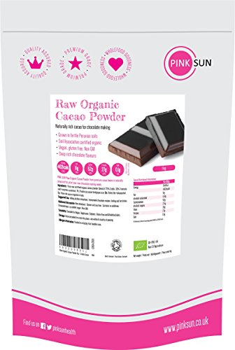 PINK SUN Raw Organic Cacao Powder 1kg - Criollo Cocoa 1000g (also available in 500g) Test