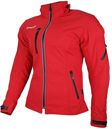 *Heyberry Damen Soft Shell Jacke Motorradjacke Textil Rot Gr. S*