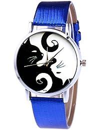 Coconano Relojes de moda para damas de cuero de diseño para hombres, esfera de aleación