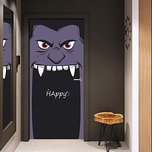 Mt053 Halloween Big Mouth Tür Aufkleber Glas Fenster Aufkleber Kreative Party Holztür Renovierung (Rob Und Big Kostüm)