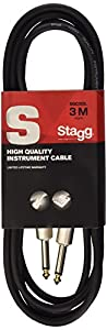 Stagg Pro-Series 1.5m Jack to Jack Instrument Cable - Black