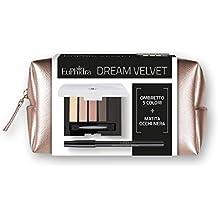 EuPhidra Dream Velvet–palette Sombra 5colores + Lápiz Ojos Color Negro + Pochette de Saffiano bicolor
