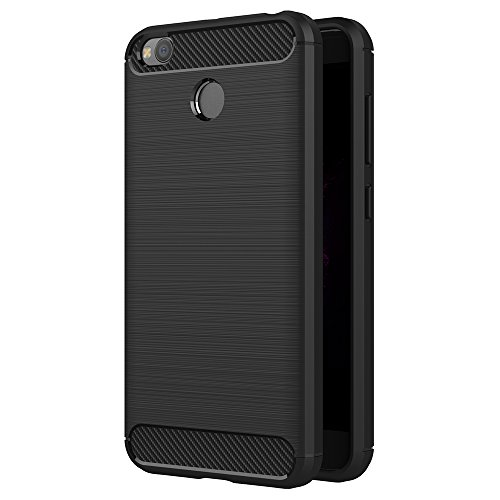 Xiaomi Redmi 4X Hülle, AICEK Schwarz Silikon Handyhülle für Redmi 4X Schutzhülle Karbon Optik Soft Case