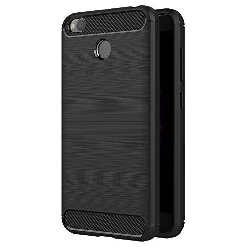 Funda Xiaomi Redmi 4X, AICEK Negro Silicona Fundas para Redmi 4X Carcasa Xiaomi Redmi 4X Fibra de Carbono Funda Case