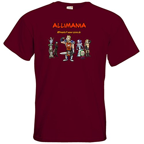 getshirts - Stevinho & Allimania - T-Shirt - Allimania Classic - Horst Burgundy
