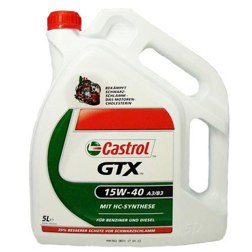 Olio motore Castrol GTX SAE 15W-40 A3 / B3 - bottiglia 5L
