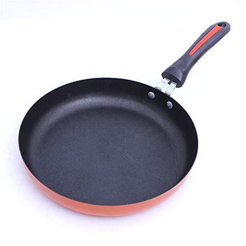 KGHONY 26cm28cm30cm Bratpfanne Omelettpfanne Mit Flachem Boden Antihaft-Pfanne Gebratener Steak-Wok (26cm)