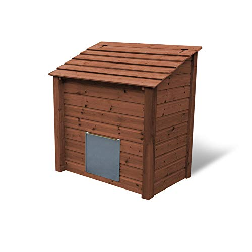 Rutland County Garden Furniture RIDLINGTON HEAVY DUTY WOODEN COAL STORE/COAL BUNKER (Brown)