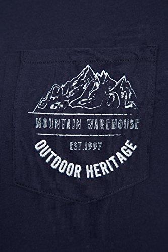 Mountain Warehouse T-Shirt Uomo Outdoor Heritage Blu navy