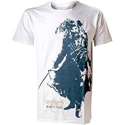 Assassins Creed IV Negro Flag Negro Beard oficial hombre nuevo Blanco T Shirt