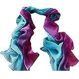 Damen Schal, Frauen Mode Farbverlauf Chiffon Schal Weiche Wrap Halstuch Tücher Schlauchschal Shawl(Violett)