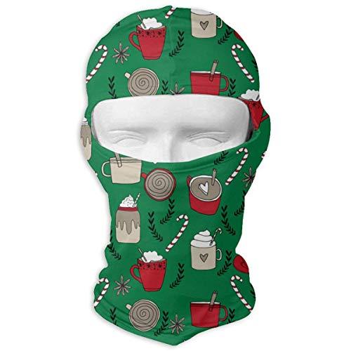 Pizeok Windproof Balaclava Hood, Christmas Latte Hot Chocolates Food Ski Mask for Party Activities Multicolor4