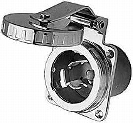 Hubbell hbl504ss SS Einlass 50A 125/250V -