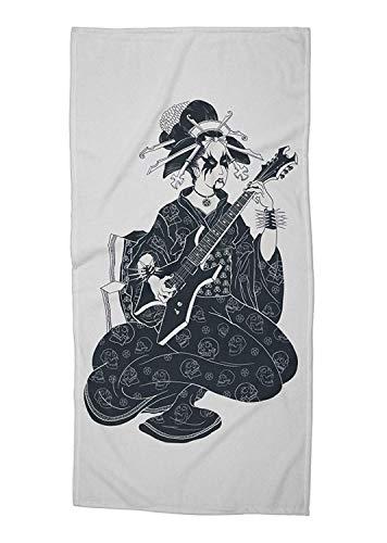 Geisha Bath (Yuerb Strandtücher Handtücher Black Metal Geisha Beach/Bath Towel - 31